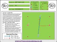 The drill is a fun defending session set out
