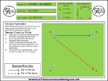 This is a passing session set out in an 8x8